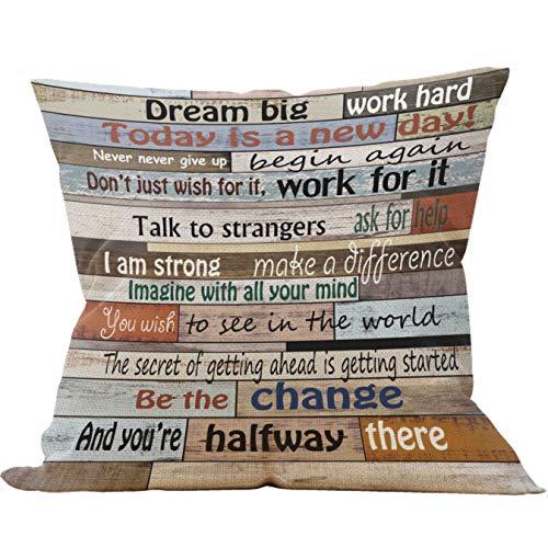 Mancheng-zi - Funda de almohada para oficina (45 x 45 cm), diseño vintage