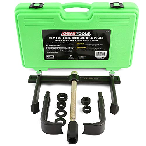 OEM TOOLS 25106 Brake Drum and Rotor Puller, Wheel Hub Tool, Use with Impact Wrench, Adapters for Use with Most Common Hub Sizes and Types, Brake Drum Tool