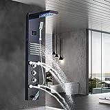 JUNSHENG LED Panel de Ducha de Acero Inoxidable Columna con