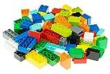 Set n.° 1 de Ladrillos Big Briks para Construir - 84 Piezas - Compatible con Todas Las Grandes Marcas - Tacos Grandes - 10 Colores del Arco Iris