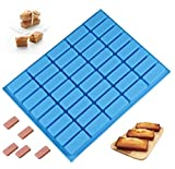 Mity rain 40 Cavities Rectangle Silicone Mold - Caramel Candy Trays Molds for Chocolate Truffles,...