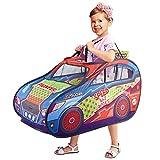 LANHA Tenda per Auto per Bambini Tenda da Gioco Pop Up Giocattoli di finzione Casette da Gioco con Custodia per Il Trasporto per Bambini Divertimento al Chiuso e all'aperto
