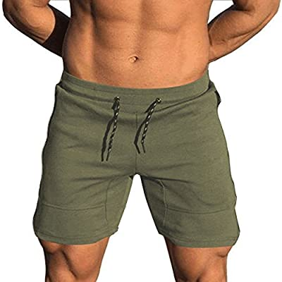Gocgt Men Workout Shorts Bodybuilding Running Training Jogging Short Pants