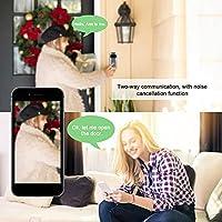 Wifiビデオドアベル3個バッテリー、家庭用安全赤外線暗視用