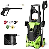 Homdox 2950 PSI Electric Pressure Washer, High Pressure Washer, Professional Washer Cleaner Machine with 4 Interchangeable Nozzles,1.70 GPM,Green 1800W (Green)