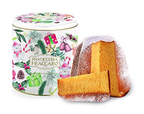 Pandoro artigianale di Fraccaro Spumadoro, dolce natalizio Made in Italy, confezione in...