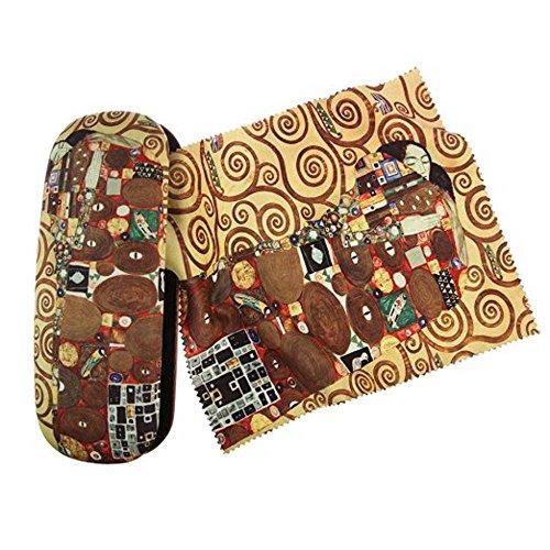 Artis Vivendi 9005 Brillenetui und Brillenputztuch Gustav Klimt - Die Erfüllung II in Dekomiro Geschenkverpackung