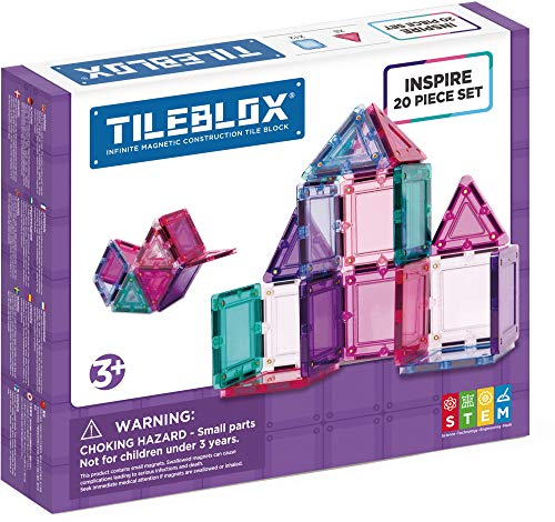 Tileblox 1030007 20-Piece Inspire Set Multi-Coloured