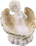 YANRUI Jardín ángel ala Estatua Estatua Resina Escultura a Domicilio Vela Vela candelero religioso jardín decoración Accesorios Accesorios Ornamentos artesanía estatuillas (Color : B)
