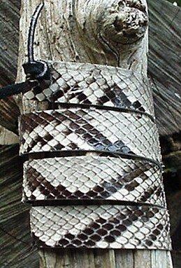 Western Hatband B & W Python Snake Skin W Ties New