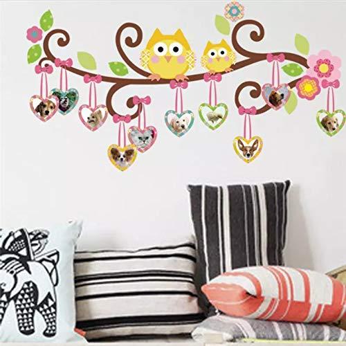 Lindas pegatinas de pared de árbol de búho para decoraciones de habitación de niños calcomanías de dibujos animados para niños para niñas arte mural de animales flores