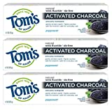Tom's of Maine Activated Charcoal Toothpaste, Natural Toothpaste, Peppermint with Fluoride, 4.7 oz 3...