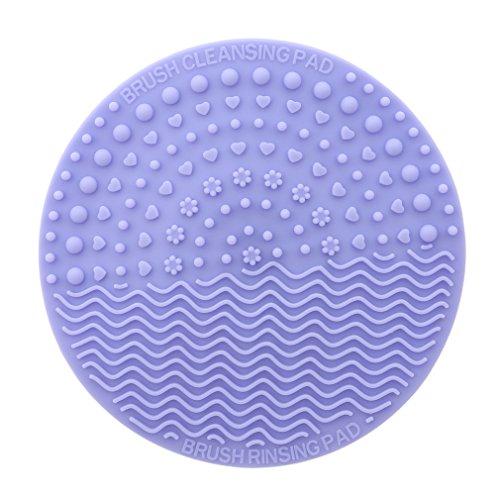 SEVENHOPE Silicone Pinceau De Maquillage Cleaner Mat Portable Pinceau De Maquillage Outil De Lavage Laveur avec Ventouse pour Utilisation Voyage À La Maison