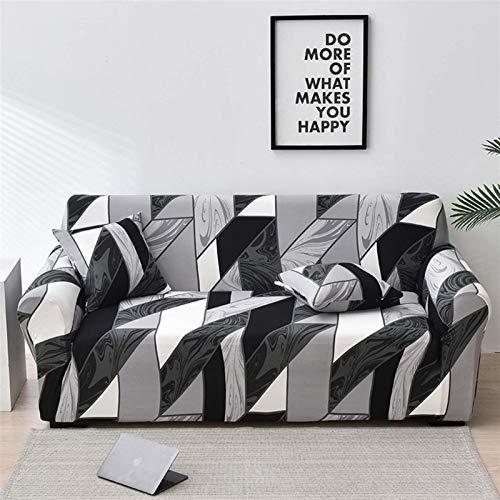 Elástico Floral Sofá cubierta Cubiertas de sofá elástica para la sala de estar Sofá Funda Protector Fundas Fundas Sofás Con Chaise Longue 1pc (Color: Color 30, Especificación: 4 plazas 235 300cm) leil