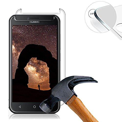 2 X Pack Panzerglasfolie Tempered Glass Hartglas Schutzfolie für Huawei Y560 / Y5 4.5 Zoll Folie Protector Displayschutz 0,3mm 9H 2.5D (Nur den flachen Teil abdecken)