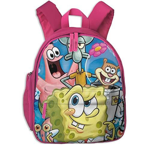 Patrick Star and Spongebob Schulrucksack, Cool Boy Girl Universal Canvas Tasche Reisetasche, Rose (Pink) - Pink-48