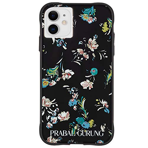 Case-Mate - iPhone 11 Case - PRABAL GURUNG - Tough Black Floral - 6.1 - Black