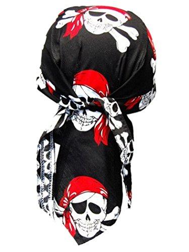 armardi b Bandana casquette Pirates Rouge Noir