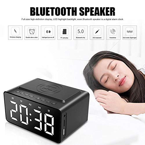 SanyaoDU Mit Wireless-Charging Bluetooth Lautsprecher Uhr LED Wecker-Energien-Bank DREI - in - One Uhr wasserdichtem Mini-Auto-Klein