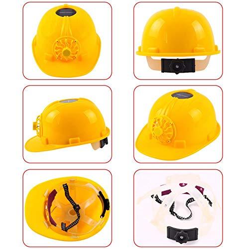 Casco de seguridad con ventilador solar, casco de seguridad con ventilador de refrigeración solar, para obras de verano, obras de construcción, levantamiento ferroviario, extracción de energía