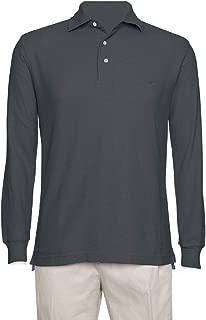 pique long sleeve polo
