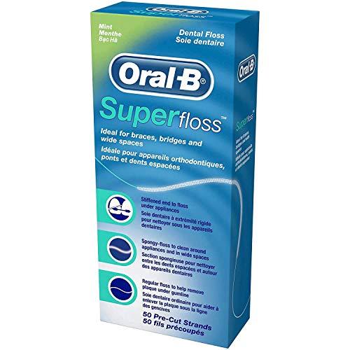 Vorteils 6er Packung Oral-B Zahnseiden SuperFloss 50 Fäden