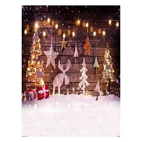 Andoer Tela de Fondo Navidad 1,5 * 2 m decoración de fotografía Plegable de poliéster Fibra para cámara réflex...