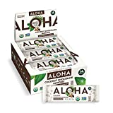 ALOHA Organic Plant Based Protein Bars - Coconut Chocolate Almond - 12 Count, 1.98oz Bars - Vegan, Low Sugar, Gluten Free, Paleo, Low Carb, Non-GMO, Stevia Free, Soy Free, No Sugar Alcohols