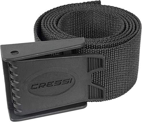 Cressi Nylon Weight Belt w Plastic Buckle, Black