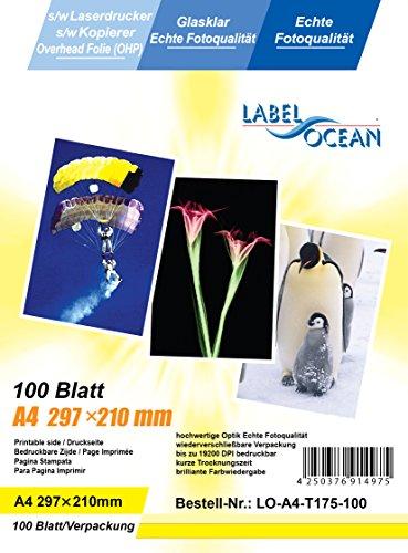 LabelOcean GmbH 100 Blatt LO-A4-T175-100 A4 Overheadfolie Bild