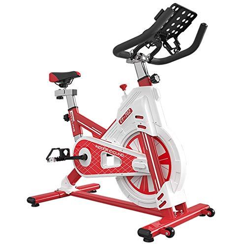 Fitness en Cualquier Momento Spinning Suministros de bicicletas Bicicleta de ejercicio Inicio Deportes Indoor Bike Fitness Equipment Práctica Bicicleta Estática ( Color : Rojo , Size : 105x59x106cm )