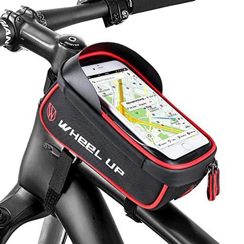 Selighting Bolsa Móvil Bicicleta Bolsa Manillar de Bici Montaña BTR Carretera Impermeable Bolsa Cuadro Bicicleta para Teléfono Móvil dentro de 6,0 pulgadas con Pantalla Táctil