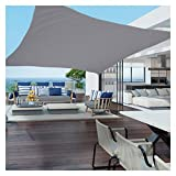 Vela De Sombra Impermeable, Toldo con Dosel Al Aire Libre para Patio 98% De Bloqueo UV Refugio Solar Duradero Multiusos Pérgola Patio Exterior Interior (Color : Gray, Size : 4x7m)