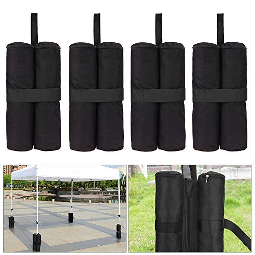 Heavy Duty Double-Stitched Weights Bag 4 pack Gazebo Sand Bags Gazebo Leg Weights Bags Outdoor Tent Leg Weights for Outdoor Sun Shelter Canopy
