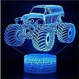 Mood Lights Lighting 3D Illusion Led Lamp Modelo De Camión Night Lightts Para Niños Dormitoriooration E Lámparas De Regalo