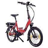 """NCM Paris MAX N8C / N8C Bicicleta eléctrica Plegable, Batería 36V 14Ah 504Wh, 20"""" (Rojo con Freno de contrapedal (N8C))"""
