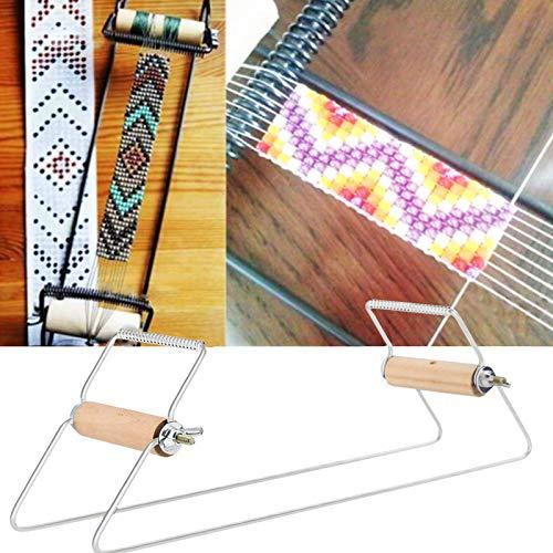 Telar de Cuentas de Madera y Acero Inoxidable Telar de joyería Resistente y Ligero para Tejer Collar de Pulsera DIY