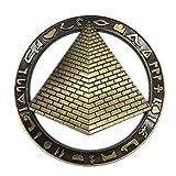 Weekinglo Souvenir Pirámide Egipto Imán de Nevera 3D de Metal Artesanía Hecha A Mano Turista Recorrido de Recuerdos de la Ciudad Carta de Colección Refrigerador Etiqueta