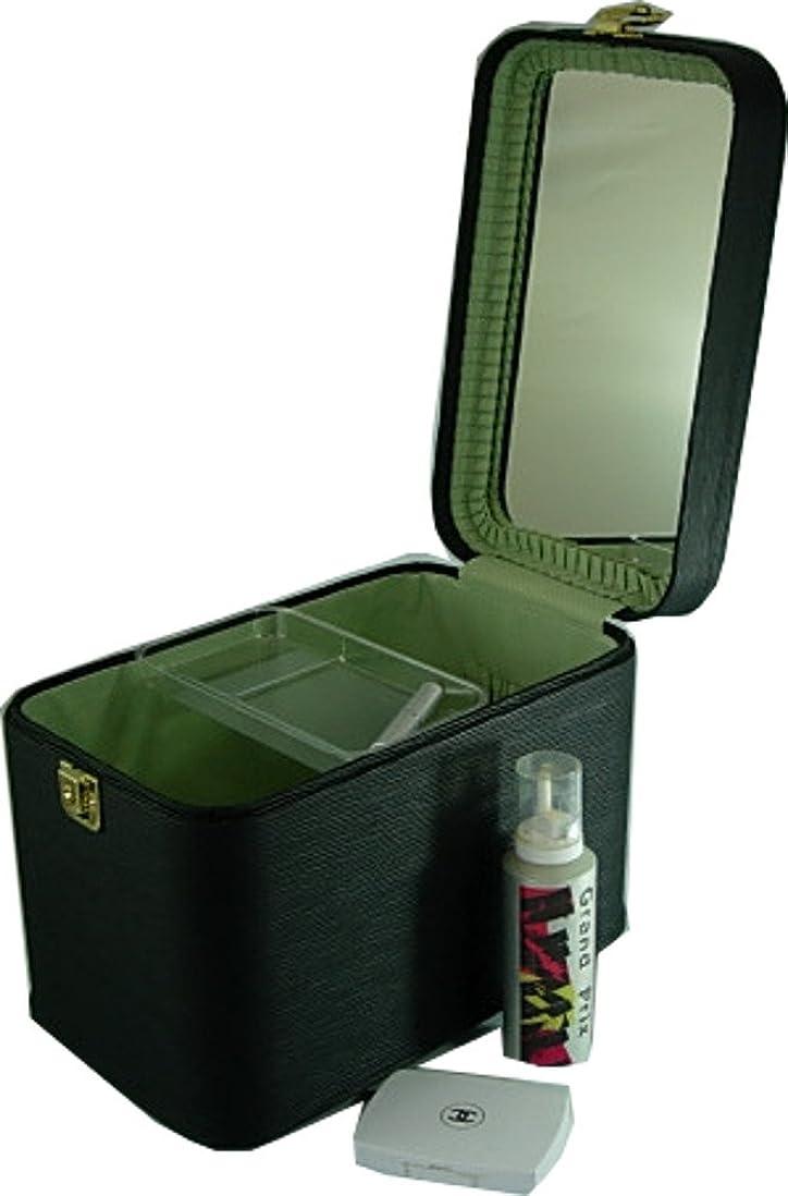 通信するすり減る任意コスメボックス 水シボ33cmブラック トレンチケース メイクボックス