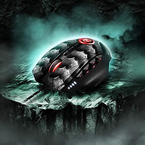 Sharkoon Drakonia II Gaming Maus, optischer Sensor PixArt 3360, 15.000 DPI, 12 programmierbare Tasten, schwarz - 8