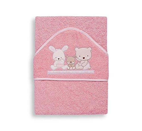 Interbaby Love - Capa de baño, 1 x 1 m, color rosa
