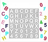 Alphabet Letter Stencils, 36 Pcs Reusable Plastic Letter Number Templates, Art Craft Stencils for Wood, Wall, Fabric, Rock, Chalkboard, Signage(2.5 inch)