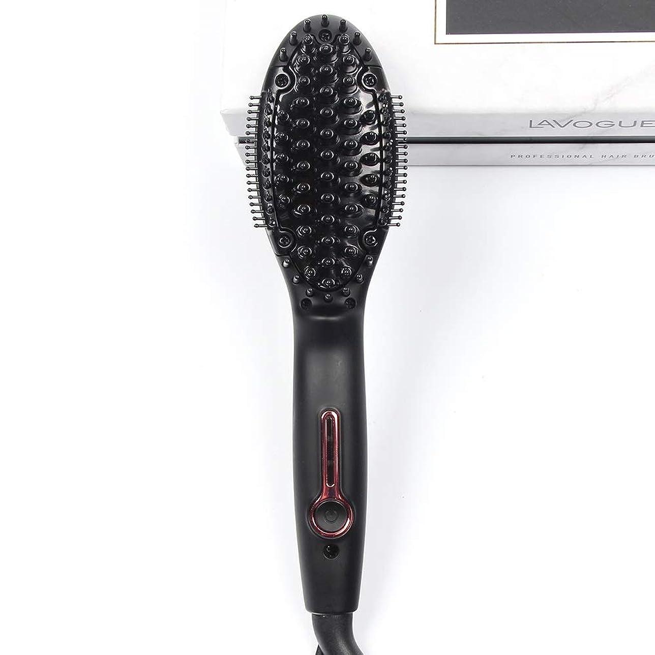 ステージラッカスベースプロのセラミックストレートヘアアイロン、ミニ多機能ストレートヘア櫛アンチスケーリングマッサージ歯矯正は髪を傷つけません
