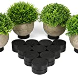 Pies de planta antideslizantes de 24 piezas | Elevadores para macetas | Jardineras de goma invisibles | Tacos para plantas de interior y exterior | Hasta 100 kg de resistencia| Pukkr