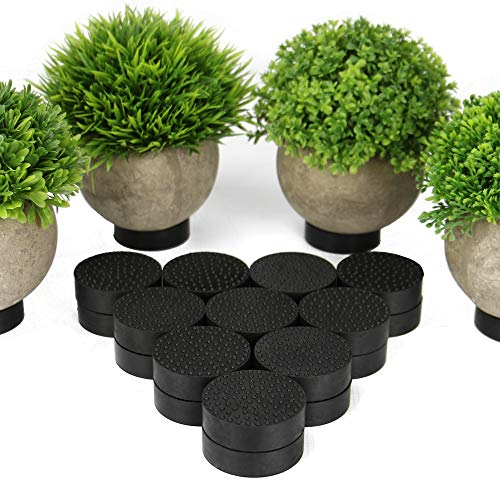 24pc Non-Slip Plant Pot Feet | Risers for Flower Pots | Invisible Rubber Planter Feet | Grip for Indoor & Outdoor Plants | 100kg Capacity | Pukkr