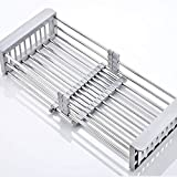 FACAI Kitchen Storage Rack, Stainless Steel Storage Shelf 2-story Countertop Microwave Oven Rack