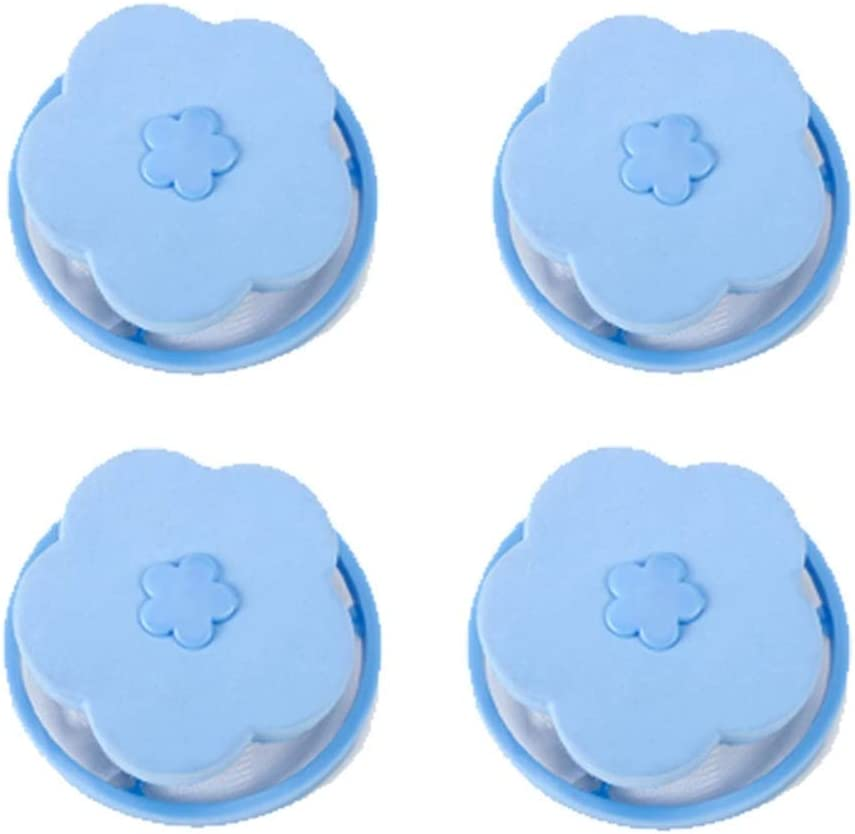 4Pcs Floating Hair Filtering Mesh Removal Washing Machine Wool Device/—Floating Lint Mesh Bag,Laundry Ball Floating Pet Fur Catcher Filtering Hair Removal Device Blue