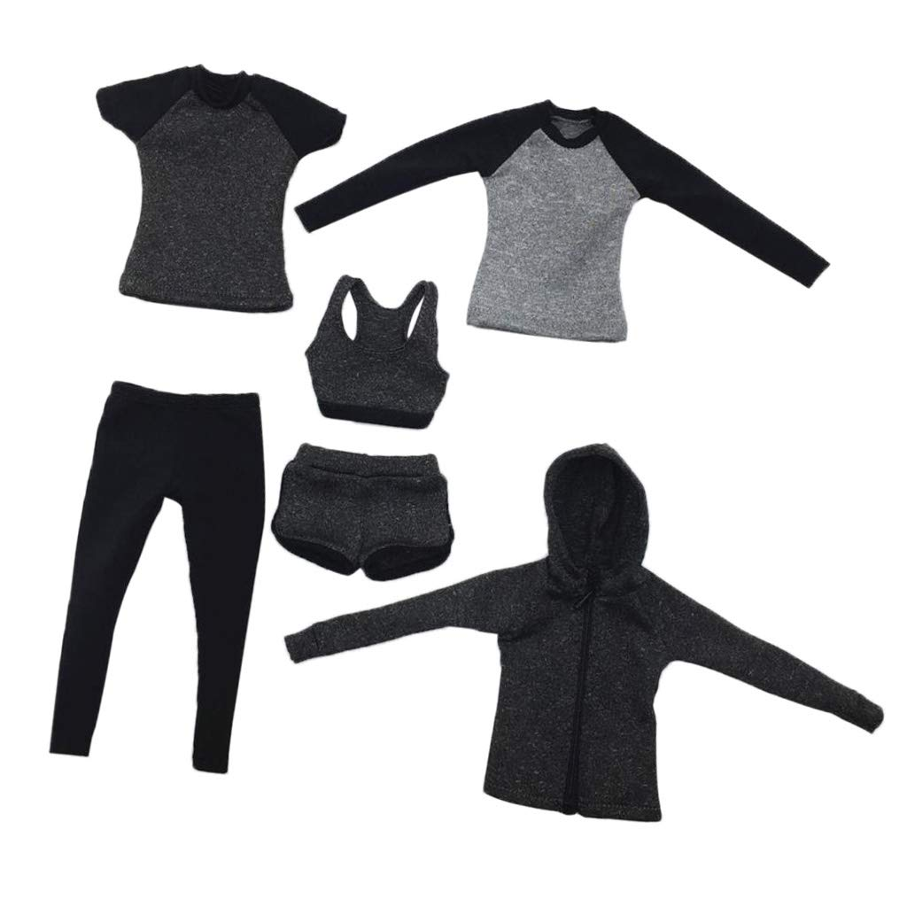 FA008 1//6 Clothing Fitness Suit Set Fit 12/'/' Girl PH TBL Action Figure Body
