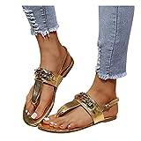 Chaussures décontractées pour Femmes à la Mode Bling Respirant Flats Slip-on Round Toe Sandals