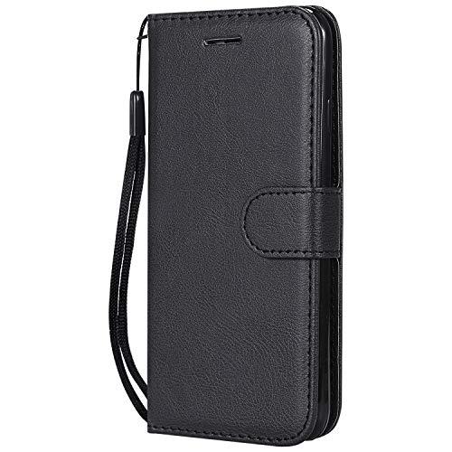 Hoesje voor iPhone 6S / iPhone 6 Hoesje Flip, Soft PU Leather Shockproof Magnetische Stand Kaarthouder Beschermende Telefoon Cover voor Apple iPhone6S / iPhone6 - ZIKT050011 zwart